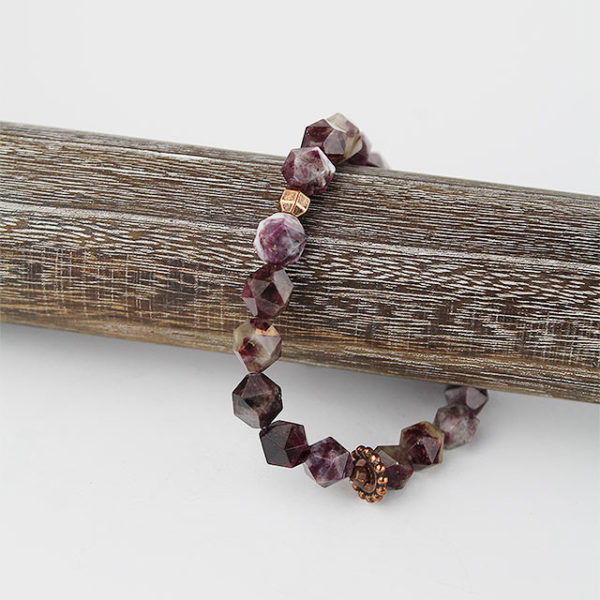 a photo of a rubellite red bracelet
