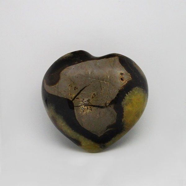 a photo of a Septarian calcite heart