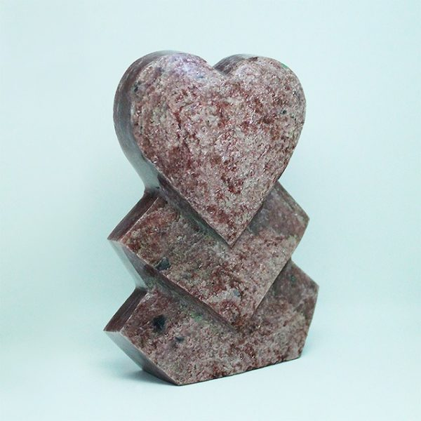 photo of a special red aventurine standing heart