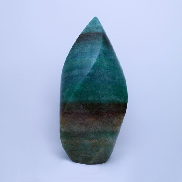 photo of a green aventurine crystal flame