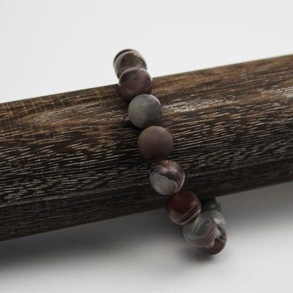 a photo of a Botswana agate bracelet