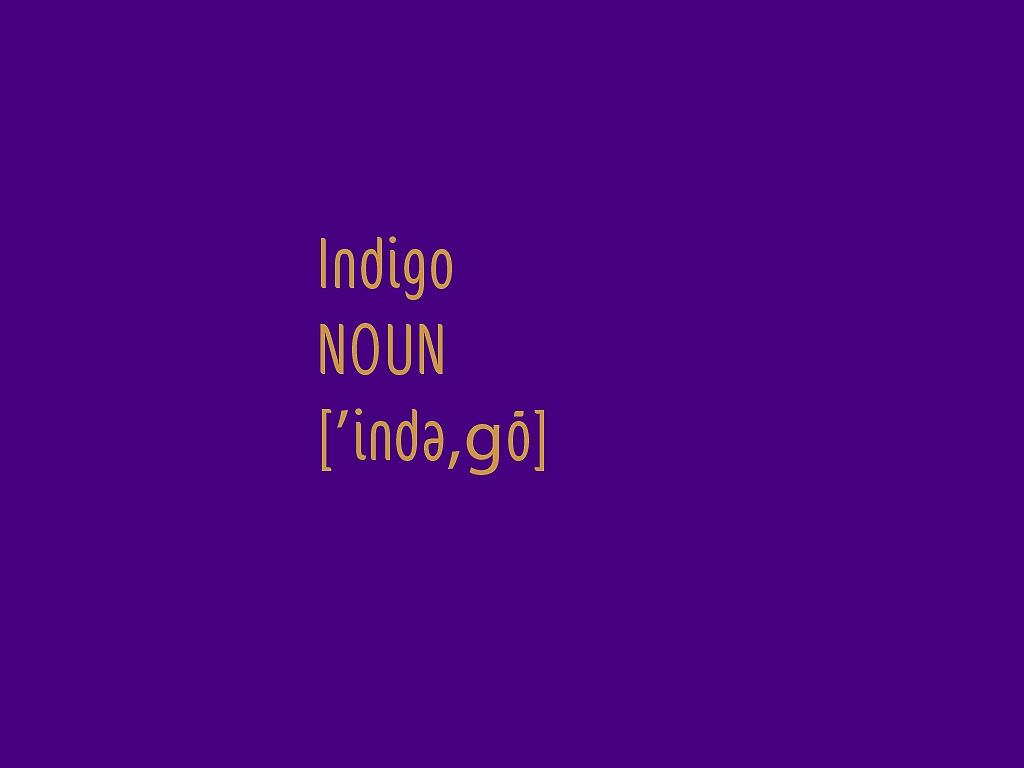 definition of indigo