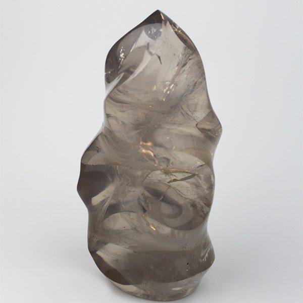 a photo of a large rock quartz flame