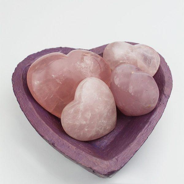 a photo of a rose quartz hearts