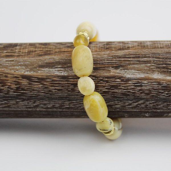 a photo of a cream opal bracelet