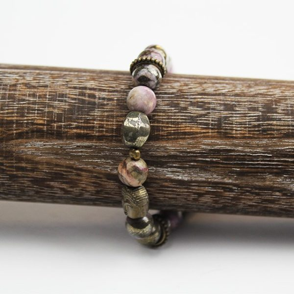 a photo of a pyrite bracelet