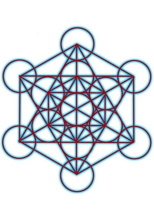 a photo of a grid of a tree of life in sacred geometry