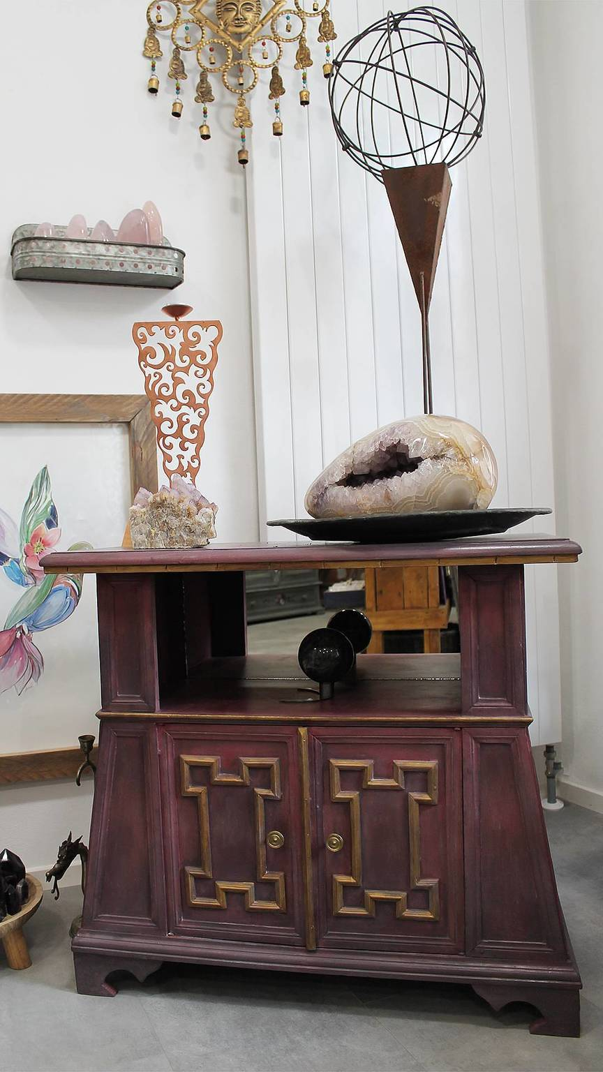 a photo of an upcycled chinese motif cabinet upcycled by Mali