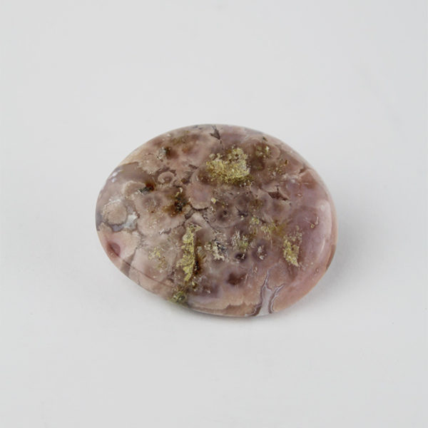a photo of a flower agate palm stone
