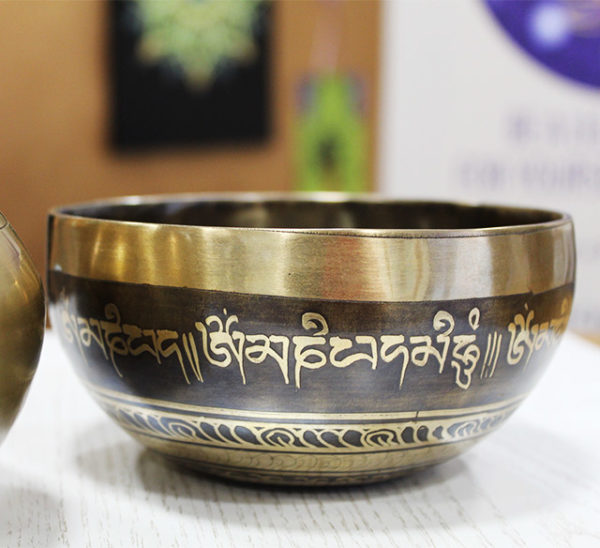 a photo of a tibetan singing bowl